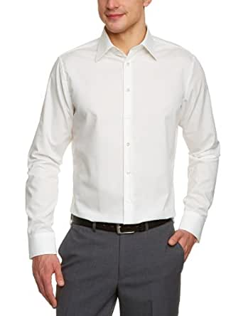 Schwarze Rose Herren Slim Fit Business Hemd 21000, Gr. 38 CM (S), Beige (ecru 21)