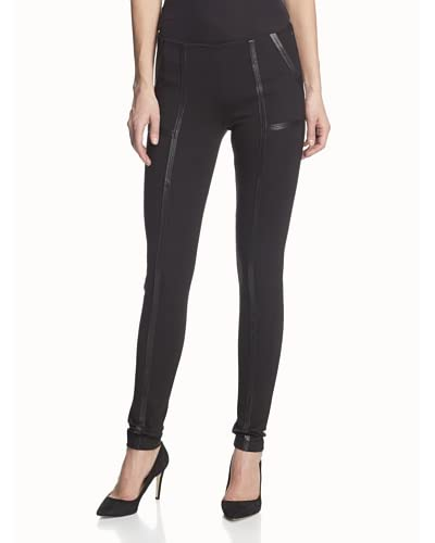 SOLD Women's Scuba Leggings with Leather Lattice