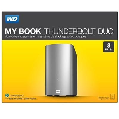 WD 8TB My Book Thunderbolt Duo Desktop RAID External Hard Drive- Thunderbolt - WDBUTV0080JSL-NESN