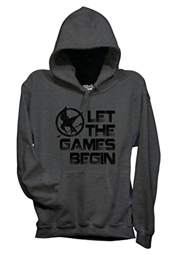 Felpa THE HUNGER GAMES - LET THE GAMES BEGIN - FILM by MUSH Dress Your Style - Uomo-S-ANTRACITE MELANGE