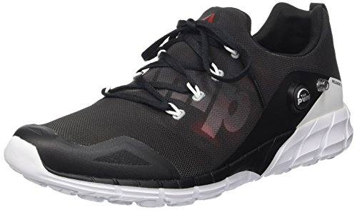 Reebok Zpump Scarpe Low-Top, Uomo, Multicolore (Coal/Blk/Alloy/Wht/R), 42