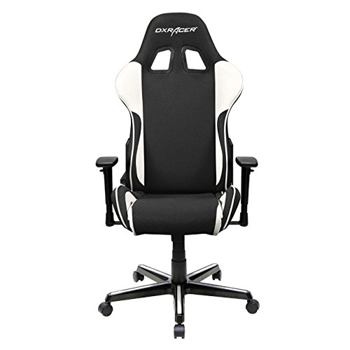 DXRacer-OHFH11NW-Formula-Series-Black-and-White-Gaming-Chair-Includes-2-free-cushions-and-Lifetime-warranty-on-frame