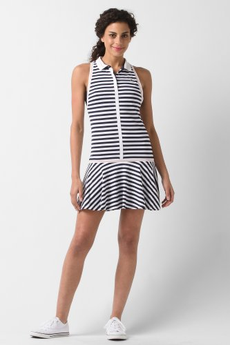 Sleeveless Technical Pique Pleated Tennis Dress