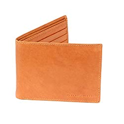 Bonjour Mens Plain Tan Leather Wallet_RUA4R7018