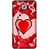 FUSON Designer Back Case Cover For Samsung J7 Max G615F/DS, Samsung Galaxy On Max, Samsung Galaxy J7 Max (Perspective Decoration Abstract Heart Colorful Sphere Beautiful Tunnel)