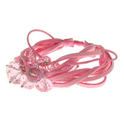 Pink knot friendship bracelet for The knot gift registry