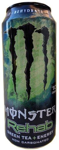 16 Pack - Monster Rehab - Green Tea + Energy - 15.5Oz