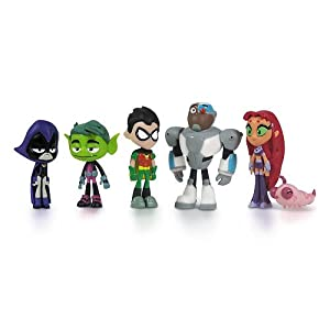 "Teen Titans Go Teen Titans Action Figure (6-Pack), 2"""