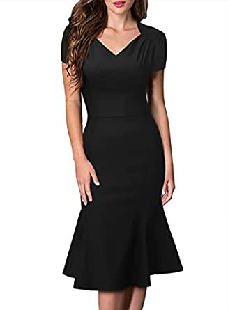 Missmay Women S Rockabilly Vintage V Neck Office Wedding