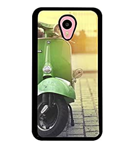 Printvisa Vintage Scooter Pic Back Case Cover for Meizu m1 note