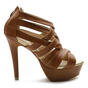 Ollio Platform High Heel Multi Colored Sandal - Crossdresser High Heel