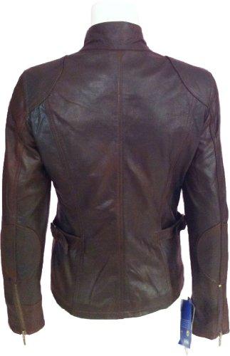 Ladies Brown crunch real leather Jacket #F1 (12)