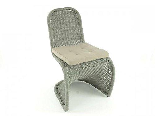aniba Design Stuhl Rio 2er Set aus Polyrattan inkl. Polster, grau