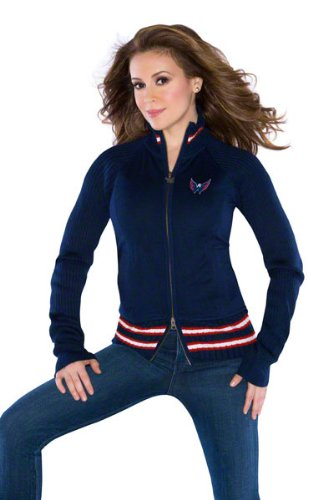 G-Iii Washington Capitals Women's 'Touch' By Alyssa Milano Sweater Mix Jacket Medium at Amazon.com