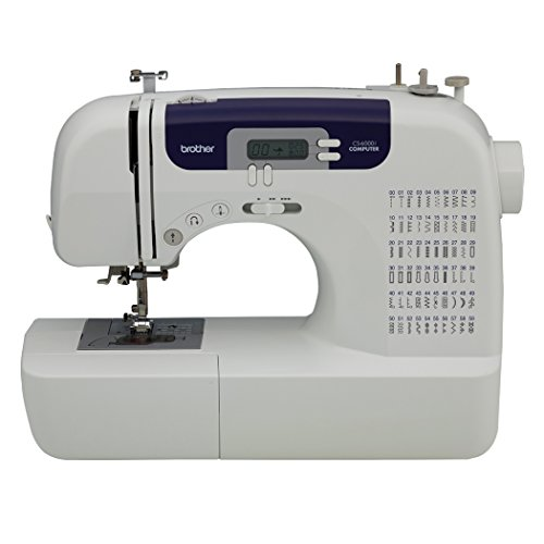 Brother CS6000i Feature-Rich Sewing Machine With 60 Built-In Stitches, 7 styles of 1-Step Auto-Size Buttonholes, Quilting Table, and Hard Cover (White Sewing Machine Manual compare prices)