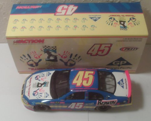 2003-action-kyle-petty-45-georgia-pacific-hands-to-victory-dodge-intrepid-1-of-2868-oop-124-scale-di