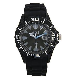 UE Fashion™ Men's Boys' Bracelet Quartz Wrist Watch, Black Dial