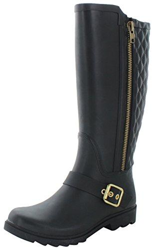 Steve Madden Women's Northpol Rain Shoe, Black, 8 M US (Steve Madden Rain Boots For Women compare prices)