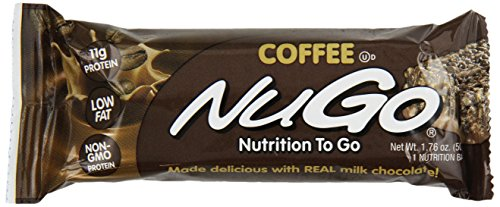 NuGo All-Natural Nutrition Bar, Coffee, 1.76-Ounce Bars (Pack of 15)