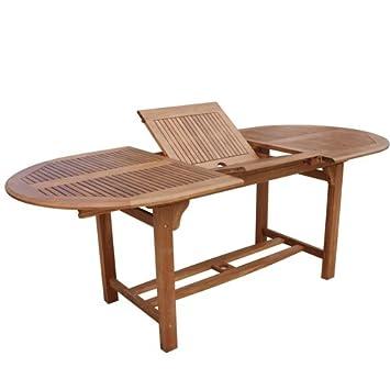 Massivholztisch ausziehbar oval 90x150 cm for Massivholztisch ausziehbar
