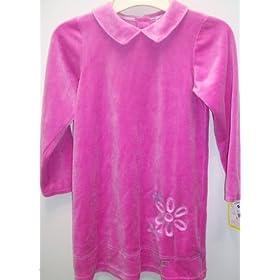 Girl 6x Fushia Dark Pink, Full Sleeve Winter Velvet Shirt Top Blouse