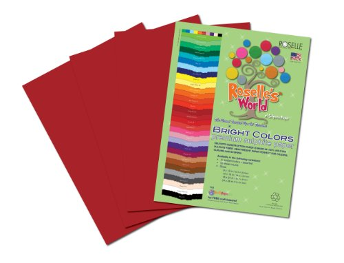 Roselle Bright Colors Suphite Construction Paper, 9 x 12 Inches, Dark Red/Burgandy, 50 Sheets Per Package (76201) - 1