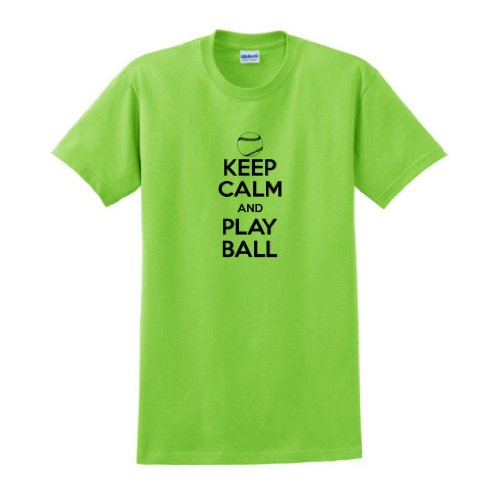 Keep Calm And Play Ball T-Shirt 3Xl Lime