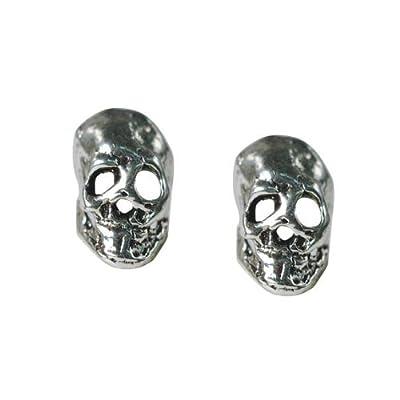 Stud Earrings Sterling Silver - Small Skulls