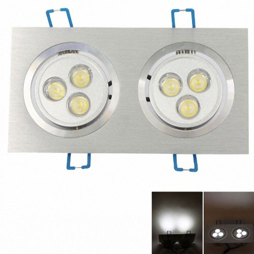2 X 1W 3 Led 500~600Lm White Light Led Ceiling Light White (85-265V)