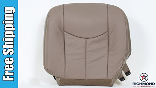 2004 Chevy Avalanche 1500 LT LS Z71 Z66 Driver Side Bottom Replacement Leather Seat Cover, Tan (2004 Chevy Avalanche Transmission compare prices)