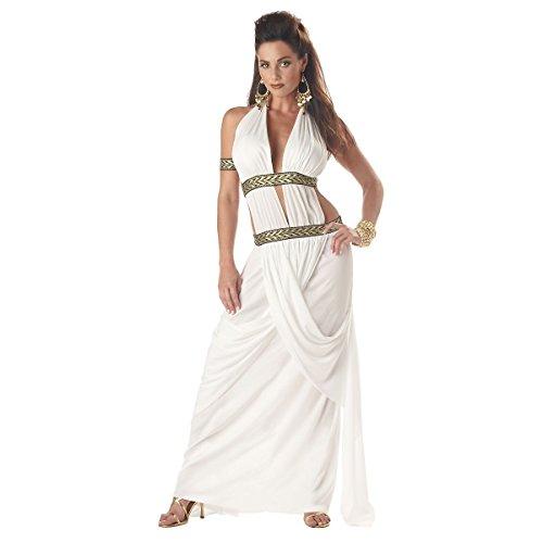 [GSG Spartan Queen Costume Adult Greek Goddess Gorgo Halloween Fancy Dress] (Spartan Princess Costumes)