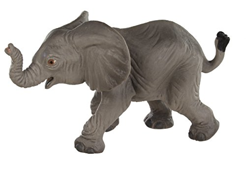 Safari Ltd Wild Safari Wildlife - African Elephant Baby - Realistic Hand Painted Toy Figurine Model - Quality Construction from Safe and BPA Free Materials - For Ages 3 and Up - 1