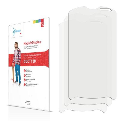 3x Vikuiti MySafeDisplay Displayschutzfolie DQCT130 von 3M passend für Sony Ericsson Xperia Pro MK16 MK16i