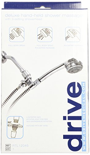 Drive Medical Handheld Shower Head Spray Massager, Chrome