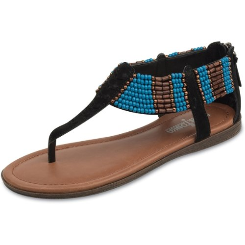 Minnetonka Women's Ibiza Passport Collection Sandal,Black,8 M US