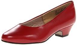 Soft Style by Hush Puppies Women\'s Angel II Dress Pump, Red Elegance, 9 M US