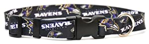 Yellow Dog Design Baltimore Ravens Licensed NFL Dog Collar, Small, 10-Inch by 14-Inch