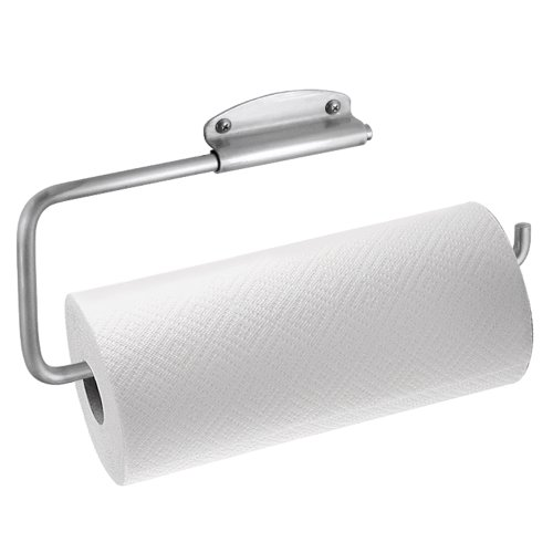 InterDesign Swivel Wall Mount Paper Towel Holder, Brushed Stainless Steel