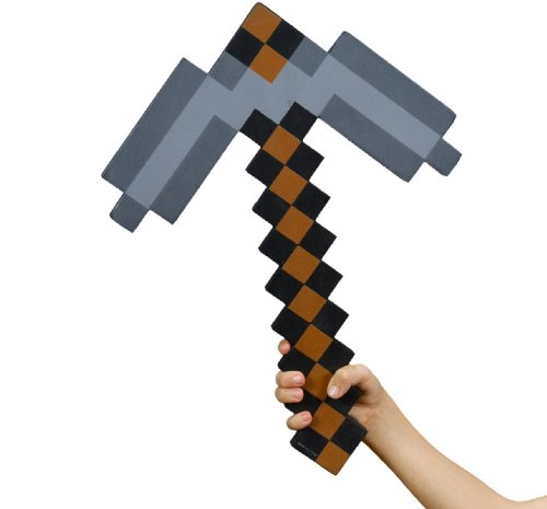 Mining Toys For Boys : Minecraft foam pickaxe toy is a great christmas or