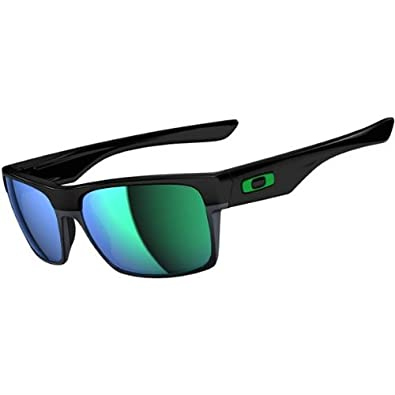 Oakley Twoface Sunglasses - Oakley Men's Lifestyle Rectangular Eyewear - Polished Black/Jade Iridium / One Size Fits All