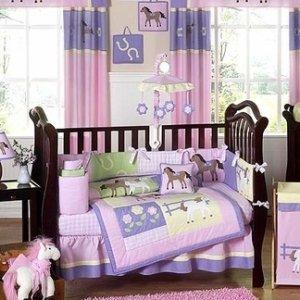 Amazon Pretty Pony Horse Baby Bedding 9 pc Crib