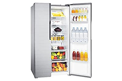 Samsung RS552NRUA7E/TL Frost Free Freezer-on-Top Free-Standing Refrigerator (591 Ltrs, 3 Star Rating, Silver)