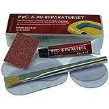 PVC und PU Reparatur Set, Flickzeug für Schlauchboot Zelt Pool Gewebe Planen Vinyl PVC PU (Polyurethan)
