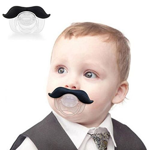 Xidaje 1X Funny Mustache Baby Pacifier Orthodontic Nipples Mustache New front-777080