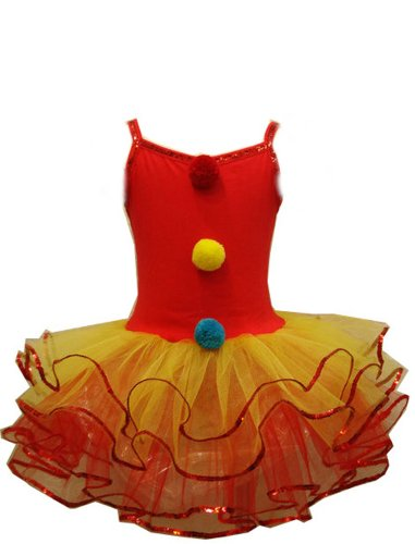 In Fashion Kids Little Girls' Ballerina Clown Tutu Dress Costume