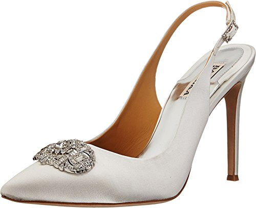 Badgley Mischka Women's Sansa Dress Pump, White, 8.5 M US