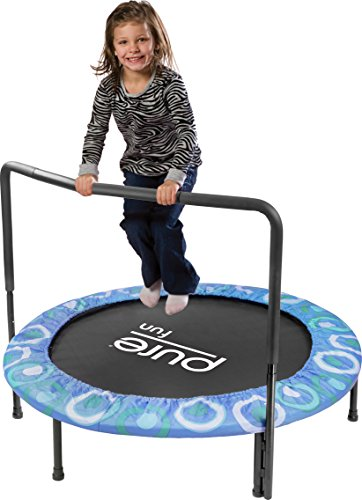 """Pure Fun Super Jumper: 48"""" Trampoline with Handrail, Blue, Youth Ages 3+"""