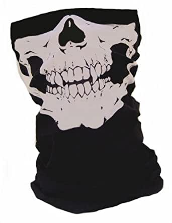"""GEAR© Tour de Cou Protège Cou Masque Cagoule Tube """"Ghost Tete de mort"""" - Style Call of Duty Advanced Warfare Battlefield Xbox One Ps3 Ps4 - Airsoft Paintball Moto Ski Snow Surf Outdoor"""