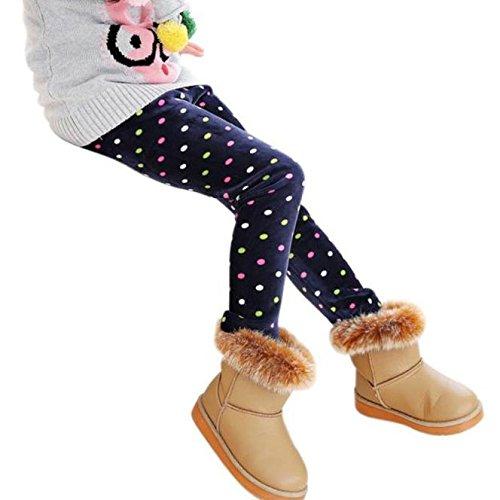 Culater® Ragazze di inverno caldo di spessore elastico in vita dei pantaloni delle ghette (130, Marina Militare)