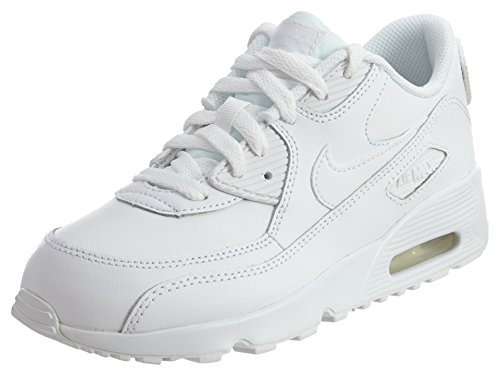 Nike AIR MAX 90 LTR (PS) boys running-shoes 833414-100_13.5C - WHITE/WHITE
